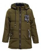6691# зелен Куртка мальчик 134-158 по 5