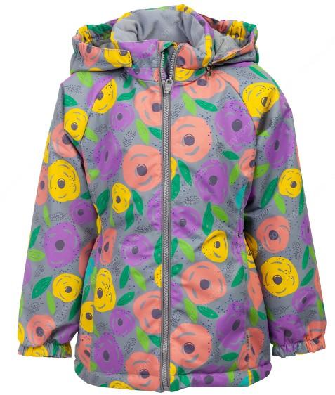 B25-01 серый Куртка дев. 104-128 по 5