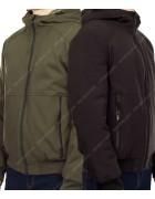 1273 хаки/черный Куртка мужская  M-3XL по 5 MIX