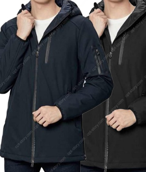 1276 син/черн Куртка мужская  M-3XL по 5 MIX