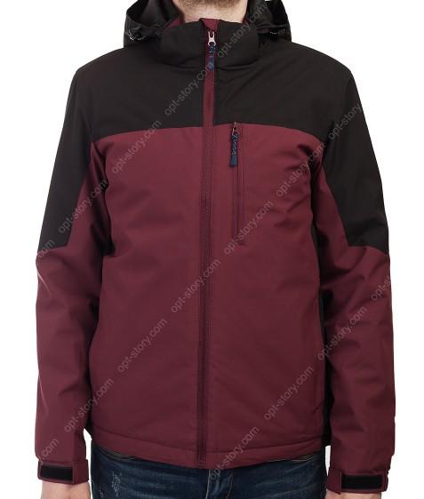 B989 бордо/чёрн Куртка мужская M-3XL по 5