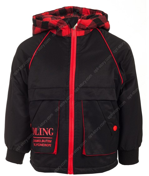 2835 черный Куртка маль. 90-130 по 5