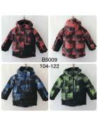B5009 зел. Куртка мальчик 104-122 по 4