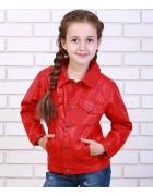 8A77 красн.Куртка девочка 110-150 по 5