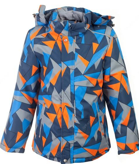 H36-08 оранж Куртка  термо мальчик 116-140 по 5