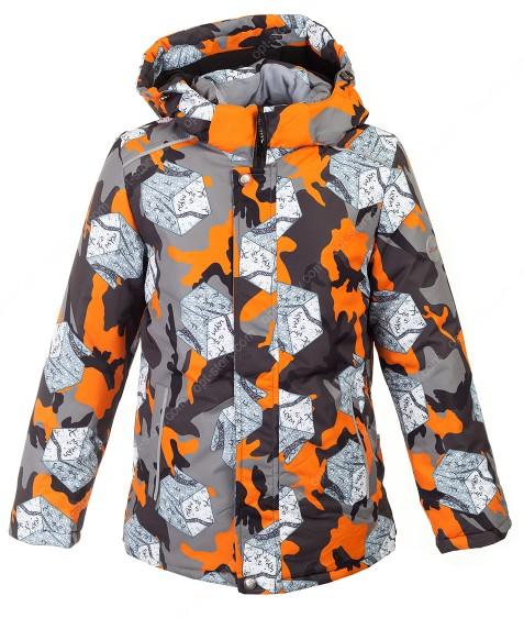 H39-02 оранж Куртка  термо мальчик 128-152 по 5
