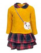 9821 желт. Платье девочка 1-5 по 5