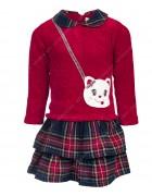 9821 красн. Платье девочка 1-5 по 5