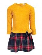 9826 желт. Платье девочка  3-8 по 5