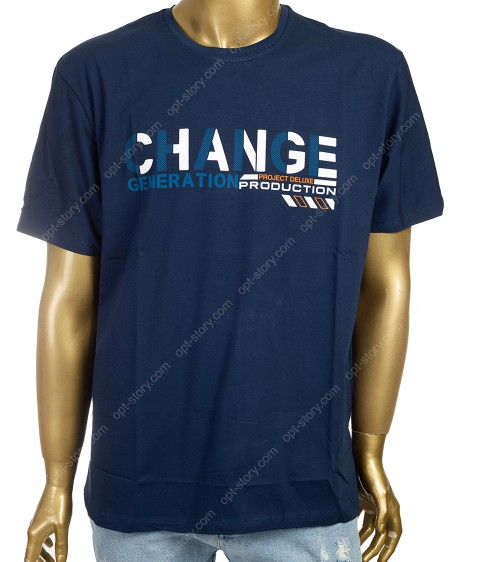 7622 т.синий Футболка мужская 3XL -6XL по 4шт