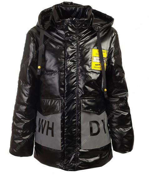 GL-02# черный Куртка дев. 116-140 по 5