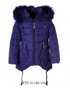 YTZ-13 синий Куртка девочка 92-116 по 5 шт