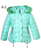 A-2 мята Куртка  девочка 104-128 по 5 шт