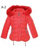 A-2 красный Куртка  девочка 104-128 по 5 шт