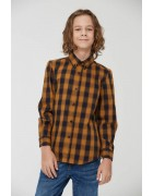 BCS-8491 жёлт. Рубашка мальчик 110-160 48/12