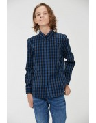 BCS-8493 синий Рубашка мальчик 110-160  по 6