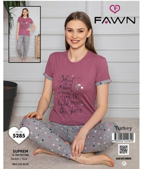 FAWN Жен  компл (футб.+штаны) 5285 р. M(2)-L(2)-XL(2) (6шт.) розовый, ш.к. 41623 (шт.)