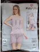 FAWN Жен  компл (маи.+шорты) 5638 р. S(1)-M(2)-L(2)-XL(1) (6шт.) розовый, ш.к. 41636 (шт.)