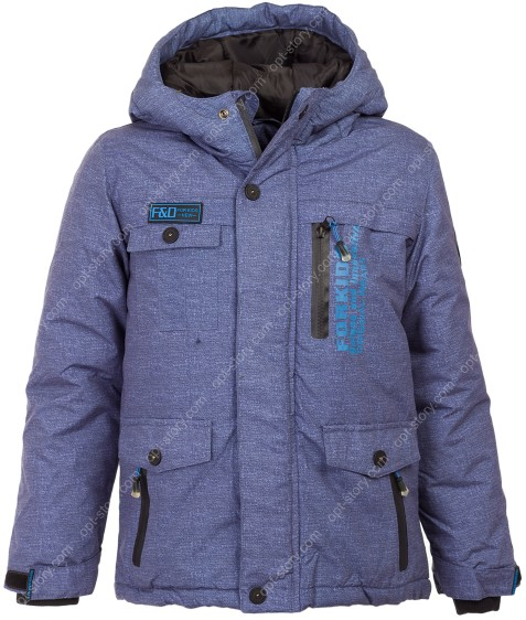 864 син Куртка мальчик 4-12 по 5