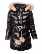 92039#1 черный Куртка дев 134-170 по 6