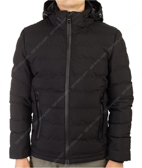 MMA-1679 черный Куртка муж M-2XL по 4