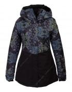 2336 черн. Куртка женская S-XL по 4