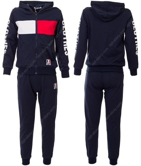 2816 черный Спортивный костюм мальчик 8-16 по 5