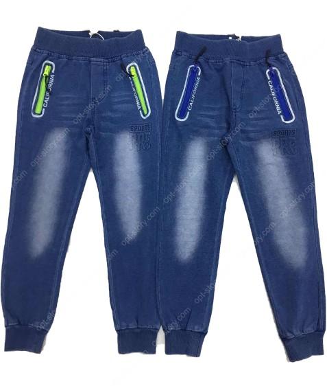 5483 син.Джинсовые штаны мальчик 8-16 по 5