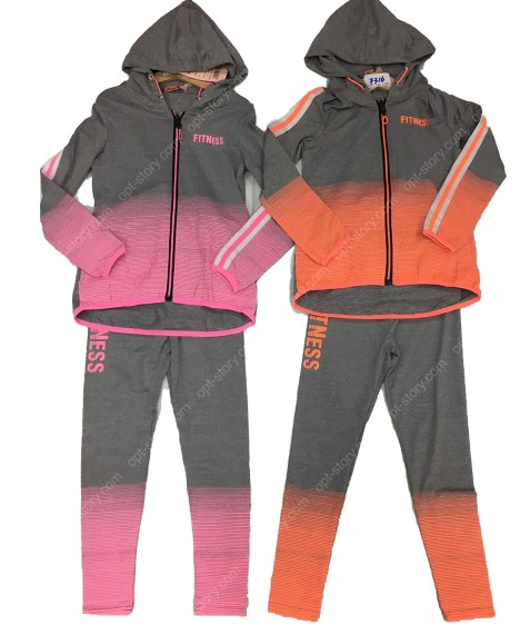 7316 роз Спорт костюм девочка 6-16 по 6