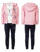 CH5814 розовый Спорт. костюм девочка 98-128 по 6