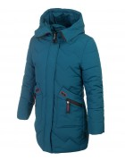 HM-1081 бирюз-синий Пальто девочка 128-152 по 5