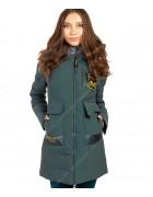47378 зел/графит Куртка женская S-3XL по 6