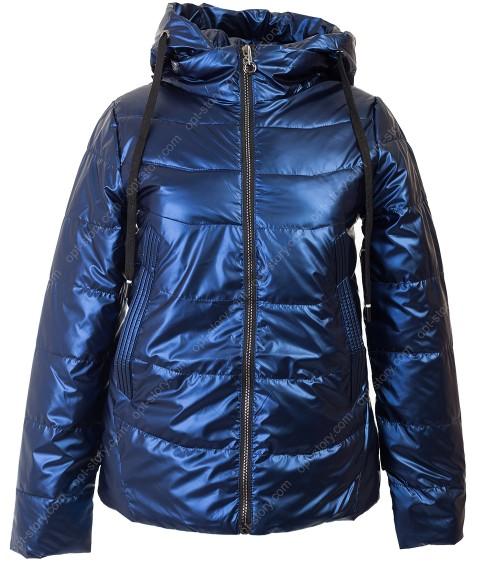 881# син Куртка женская М-2XL по 4