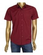1343V-3 красн. (кор. рукав) Рубашка  мужская S-XL по 4