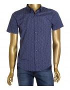 1343V-40 син. (кор. рукав) Рубашка  мужская S-XL по 4