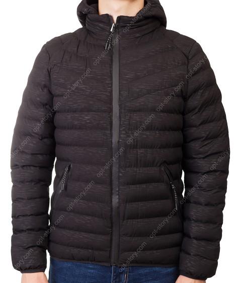 2216 черн. Куртка мужская L-4XL по 5
