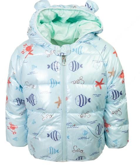 1233 голубой Рыбки Куртка девочка 80-120 по 5