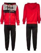 8337 красный Спортивный костюм мальчик 116-146 по 6