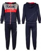 8337 синий Спортивный костюм мальчик 116-146 по 6