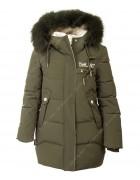 32533 хаки Куртка девочка 134-158 по 5