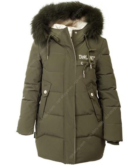 HL-605 хаки Куртка девочка 134-158 по 5