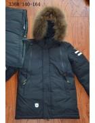 336 чёрный Куртка мальчик 140-164