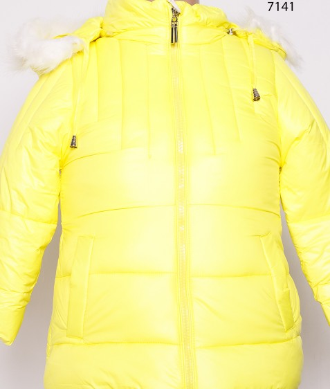 7141 желт.Куртка девочка 80-104