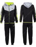 86751 зеленый Спортивный костюм мальчик 116-146 по 6