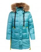 HM-1207 бирюзовый Куртка девочка 122-146