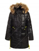 HM-1207 чёрный Куртка девочка 122-146