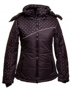 332 черн  Куртка женская  S-2XL по 7