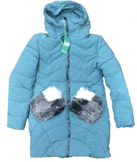 HM-927 салат. Куртка девочка 140-164 по 5