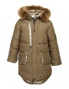 8918 коричн Куртка девочка 116-140 по 5